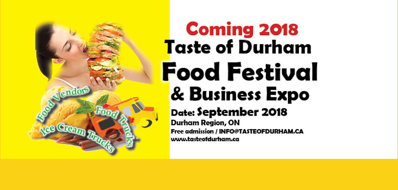 Coming in 2018. Taste of Durham Food Festival & Business Expo